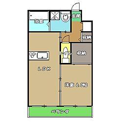 高知県高知市薊野西町2丁目の賃貸マンションの間取り