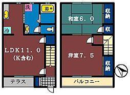 [テラスハウス] 千葉県船橋市薬円台4丁目 の賃貸【/】の間取り
