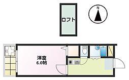 エッグハウス[205号室]の間取り