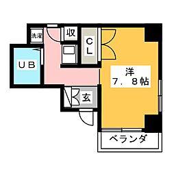 ルーミヤ鶴舞[6階]の間取り