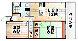 グリーンピア徳力II[4階]の間取り