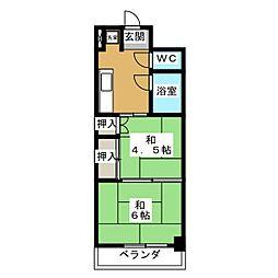 メゾンサイプリス[1階]の間取り