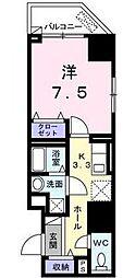 広島県福山市宝町の賃貸マンションの間取り