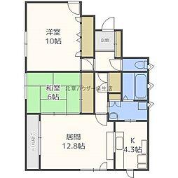 一棟二戸建 新琴似11−9 2F[2階]の間取り