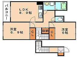 エクセレントハイム[2階]の間取り