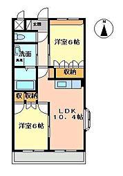 カイユウパレス[2階]の間取り