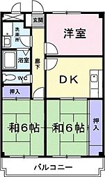 グリーンビレッジ藤沢[2階]の間取り