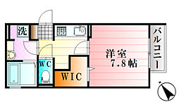 フローラ下祇園駅前 3階1Kの間取り