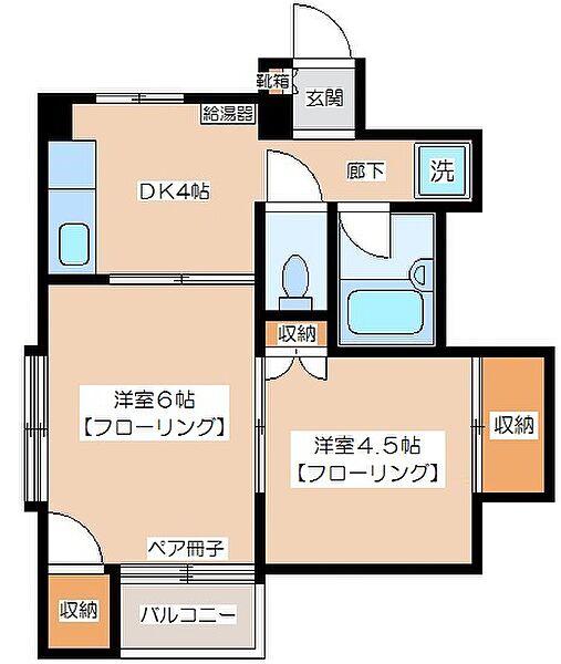川島マンション[302号室]の間取り