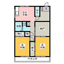 アーバン生田[2階]の間取り