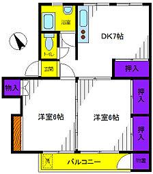 立川富士見町住宅32号棟[4階]の間取り