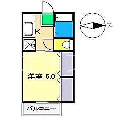 メゾン南万々[2階]の間取り