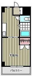 広島県広島市安佐南区西原1丁目の賃貸マンションの間取り