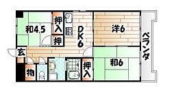 レイ前田[6階]の間取り