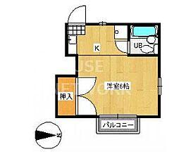 京都府京都市東山区粟田口三条坊町の賃貸アパートの間取り