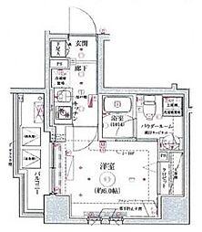 リヴシティ横濱関内 6階1Kの間取り