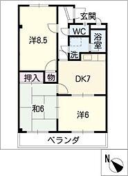シャトレー松阪[3階]の間取り