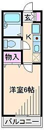 神奈川県横浜市港北区高田東1丁目の賃貸アパートの間取り