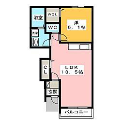 メゾンド・エスポワールA・B[1階]の間取り
