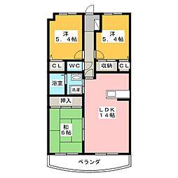 メゾンドフェリエ[2階]の間取り