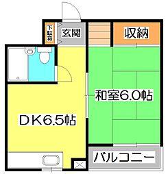 東京都練馬区大泉町2丁目の賃貸マンションの間取り