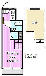 ピア3[1階]の間取り
