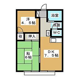コーポ諏訪A[1階]の間取り
