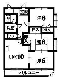 ハピネス21[105号室]の間取り