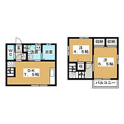 [一戸建] 静岡県富士市久沢2丁目 の賃貸【静岡県 / 富士市】の間取り
