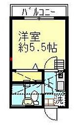 神奈川県川崎市多摩区南生田1丁目の賃貸アパートの間取り