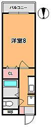 パルスコート新大宮[3階]の間取り