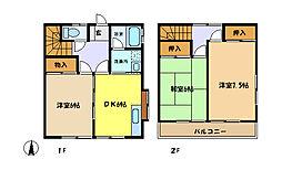 [テラスハウス] 埼玉県さいたま市中央区大戸6丁目 の賃貸【/】の間取り