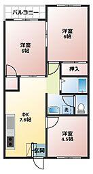 吉田屋マンション[203号室]の間取り
