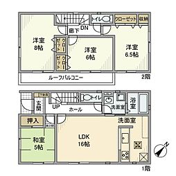 [一戸建] 千葉県松戸市六高台西 の賃貸【/】の間取り