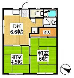石神井台サンハイツ[2階]の間取り