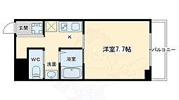 阪急京都本線 京都河原町駅 徒歩13分の賃貸マンション 3階1Kの間取り