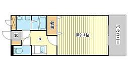 兵庫県姫路市飾磨区上野田3丁目の賃貸アパートの間取り
