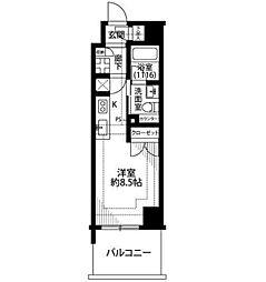 神奈川県横浜市中区初音町2丁目の賃貸マンションの間取り