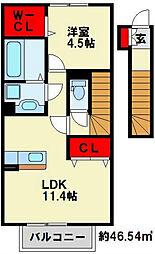 LUPINUS HY B棟[2階]の間取り