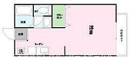 大阪府枚方市新町1丁目の賃貸アパートの間取り