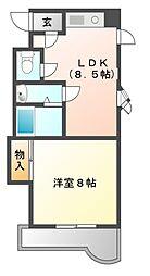 メゾン野田[4階]の間取り