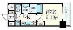 Osaka Metro御堂筋線 新大阪駅 徒歩7分の賃貸マンション 3階1Kの間取り