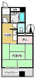 コーポ小見野(坂戸)[302号室]の間取り