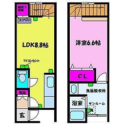 D-BOX常盤台II[1階]の間取り