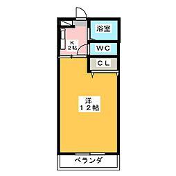 リヴェール中岡本弐番館[1階]の間取り