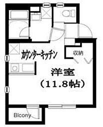 東京都目黒区東山1丁目の賃貸マンションの間取り