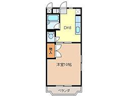 静岡県富士市伝法の賃貸マンションの間取り