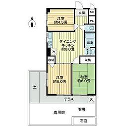 マンション上北沢[1階]の間取り