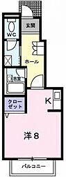 メゾン・アクティフ[1階]の間取り