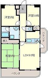 サンロード大泉[6階]の間取り
